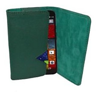 Totta Wallet Case Cover For Motorola Moto G (2Nd Gen) (Green)