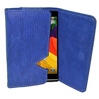 Totta Wallet Case Cover For Xolo A500S Lite (Blue)