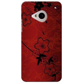 SaleDart Designer Mobile Back Cover for HTC One M7 HTCM7KAA485