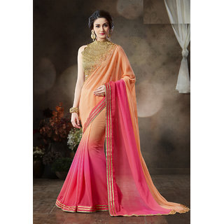 Shoponbit New Party Wear Embroidered Designer Saree available at ShopClues for Rs.2999
