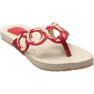 CATBIRD Women Red Flat SlipOn Sandal M1