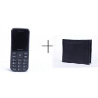 Peace P1 (Black) + Wallet (Black) - (6 months Gadgetwood warranty on phone)