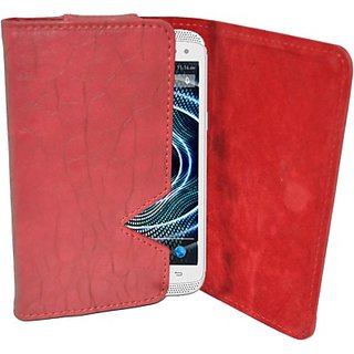 Totta Wallet Case Cover for Xolo Play 8X 1100 (Red)