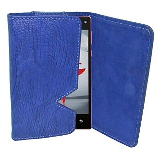 Totta Wallet Case Cover for Xolo Play 8X 1020 (Blue)