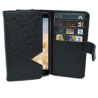 Totta Wallet Case Cover for Lenovo S890 (Black)