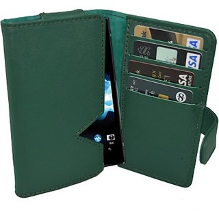 Totta Wallet Case Cover for Sony Xperia P (Green)