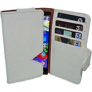 Totta Wallet Case Cover for Lenovo S390 (White)