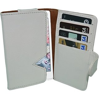 Totta Wallet Case Cover for Alcatel One Touch Hero 2 (White)