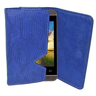 Totta Wallet Case Cover for Spice Stellar 449 (Blue)