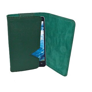 Totta Pouch for Lava 3G 402 (Green)
