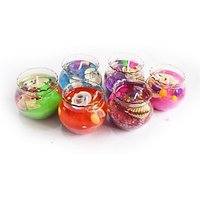 Dizionarios Glass Gel Pot Decorative Set Of 6 Candle