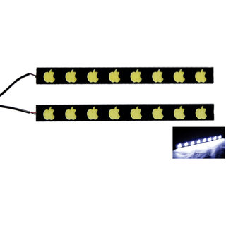 Autozot Apple Shaped COB LED DRL Daytime Running Light, Metal Base for all Cars - Set of 2