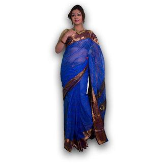 Bengal Handloom saree SC-15( Navy Blue)
