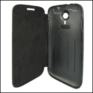 MICROMAX CANVAS HD A116 BLACK FLIP COVER available at ShopClues for Rs.149