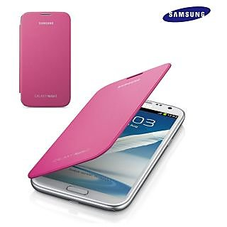 Samsung Galaxy Note 2 Flip Cover  Pink available at ShopClues for Rs.145