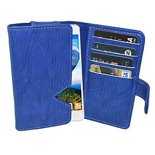 Totta Wallet Case Cover for Gionee Pioneer P3 (Blue)