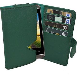Totta Wallet Case Cover for Spice Dream UNO 498H (Green)