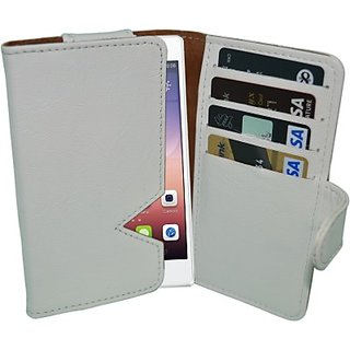 Totta Wallet Case Cover for Huawei Ascend D Quad (White)