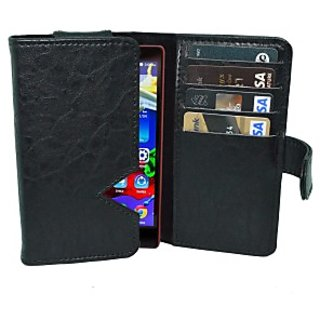 Totta Wallet Case Cover for Lenovo K3 (Black)