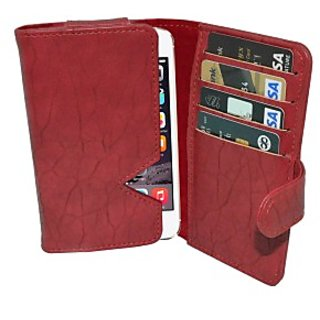 Totta Wallet Case Cover for Gionee Marathon M4 (Red)