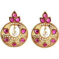 14 Fashion pink Gold finish Traditional earing-1307402A