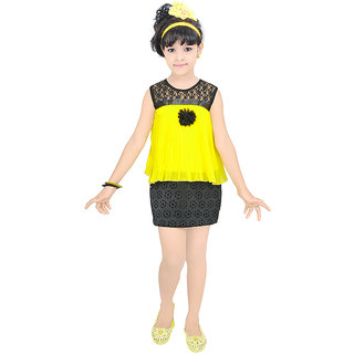 Justkids Yellow Synthetic Frock
