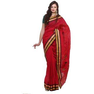 Bengal Handloom saree SC-26( Red)