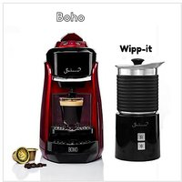 Bonhomia Boho + Wipp-It Red Single Sever Espresso Coffee Brewer + Black Induction Milk Frother