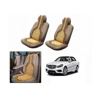 TAKECARE Beige Wooden Car Seat Beads Set Of 2 FOR MERCEDES E CLASS