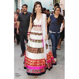 Bollywood replica shilpa shetty designer semi stitched dress material