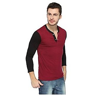 Zembo Wear Full Sleeve Henley T-shirt Cd-8