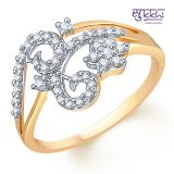 Sukkhi Gold And Rodium Plated Cz Studded Ring 299285