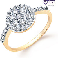 Sukkhi  Gold  and Rodium plated CZ Studded Ring