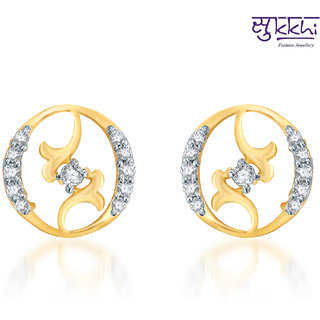 Sukkhi Moddish Gold  and Rodium plated CZ Earrings