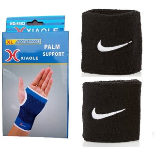Fitness Combo (Palm Support + Black Pair of Wrist Band)