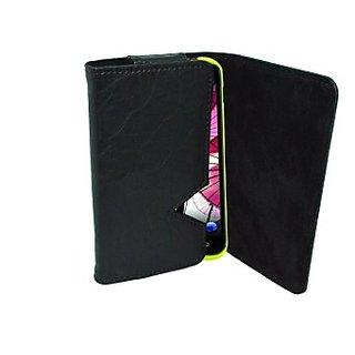 Totta Wallet Case Cover for BLU Dash 5.0 (Black)