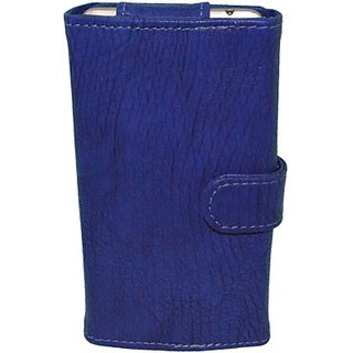 Totta Wallet Case Cover for Gigabyte GSmart Mika M2 (Blue)