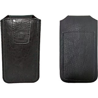 Totta Pouch for Celkon A112 Signature Swift (Black)
