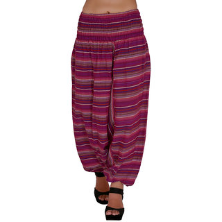 Jaipur Kala Kendra Womens Cotton Self Design Harem Pants Baggy Trouser