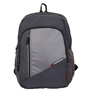 Harissons Wedge Gray Polyester Laptop Backpack