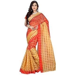 Ganesh Textiles  Sarees Women Cotton Silk Checks Saree
