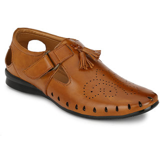 Footlodge Mens Tan Casual Sandals
