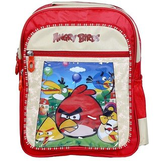 Cartoon Printed KG Kids School Bag (Angry Birds)