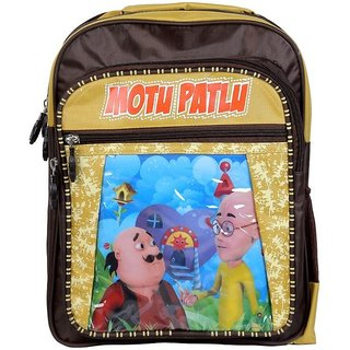 Cartoon Printed KG Kids School Bag (MotuPatlu)