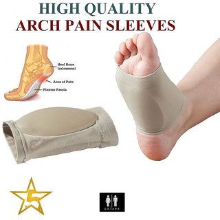 Sleeve ARCH Shoe Gel Insole Flat Feet Pad Arch Insoles