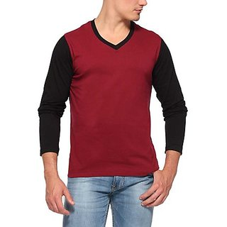 Zembo Wear Full Sleeve V- Neck T-shirt Cd-11
