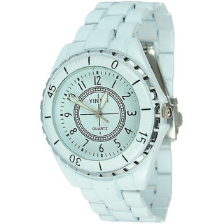 Rosra White Wrist Watch For Women