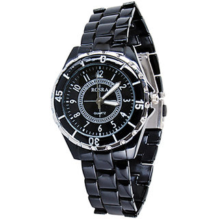 Stylish Black  Wrist Watch For Men