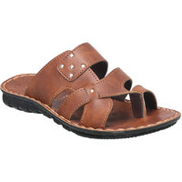 Action Floaters MenS Tan Slip On Sandals