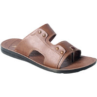 Action Floaters MenS Tan Slip On Sandals - 93290903